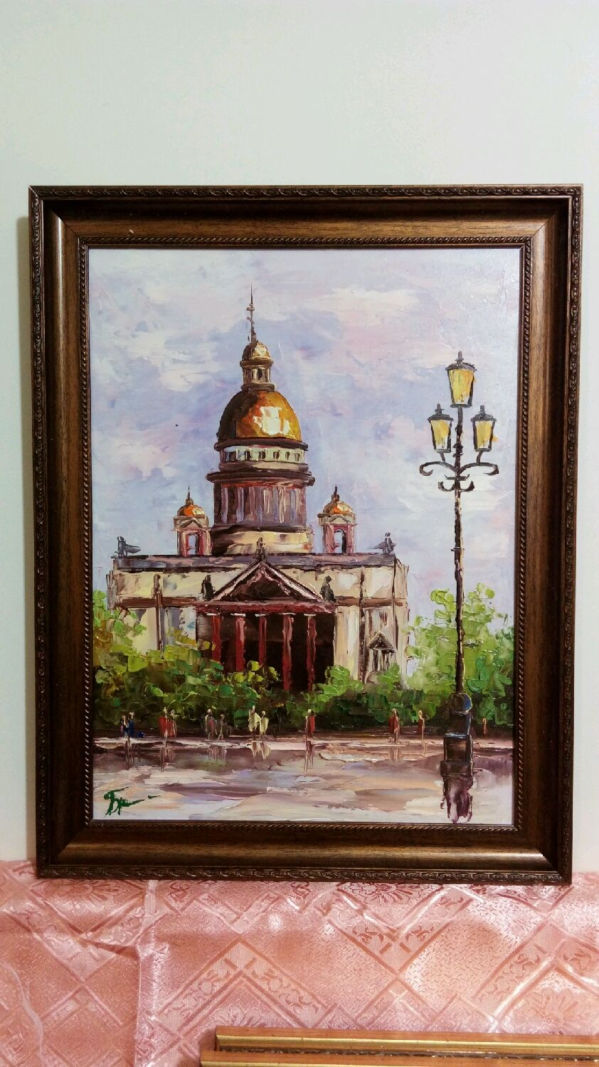 Oil painting framed size 47h37 cm, Pictures, Maloyaroslavets,  Фото №1