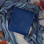 Сумки и аксессуары ручной работы. Ярмарка Мастеров - ручная работа Синяя сумочка-планшет. Handmade.