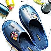 """Тапочки ручной работы. Ярмарка Мастеров - ручная работа Кожаные тапочки """"Барселона"""". Handmade."""