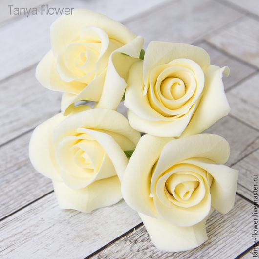 Заколки ручной работы. Ярмарка Мастеров - ручная работа. Купить Шпильки с розами (маленькие) - Айвори кремовый. Handmade. Украшение для волос