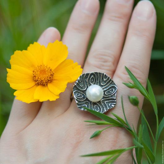 Кольца ручной работы. Ярмарка Мастеров - ручная работа. Купить Кольцо с жемчужиной (60). Handmade. Натуральные камни, подарок девушке