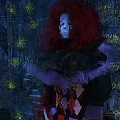 Портретная кукла ручной работы. Ярмарка Мастеров - ручная работа Кукла: Печальный клоун. Handmade.