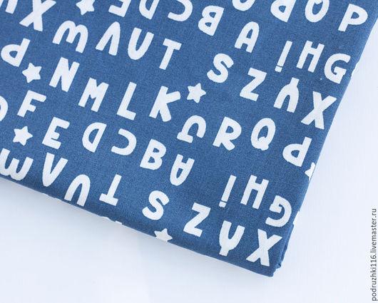 """Шитье ручной работы. Ярмарка Мастеров - ручная работа. Купить Ткань Хлопок """"Буквы"""" Франция. Handmade. Хлопок, хлопок для игрушек"""