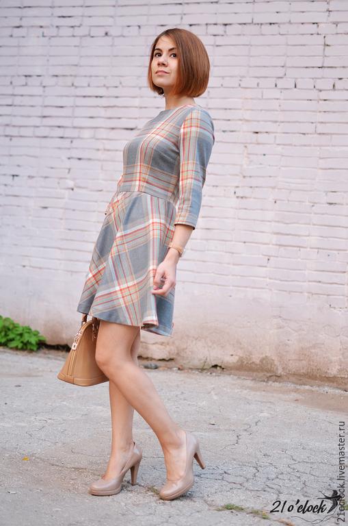 Модное платье в клетку фото   Модные платья