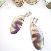 Украшения handmade. Livemaster - original item Dragonfly Wings Earrings Rainbow Shimmer Glitter Holography Silver Rhodium. Handmade.