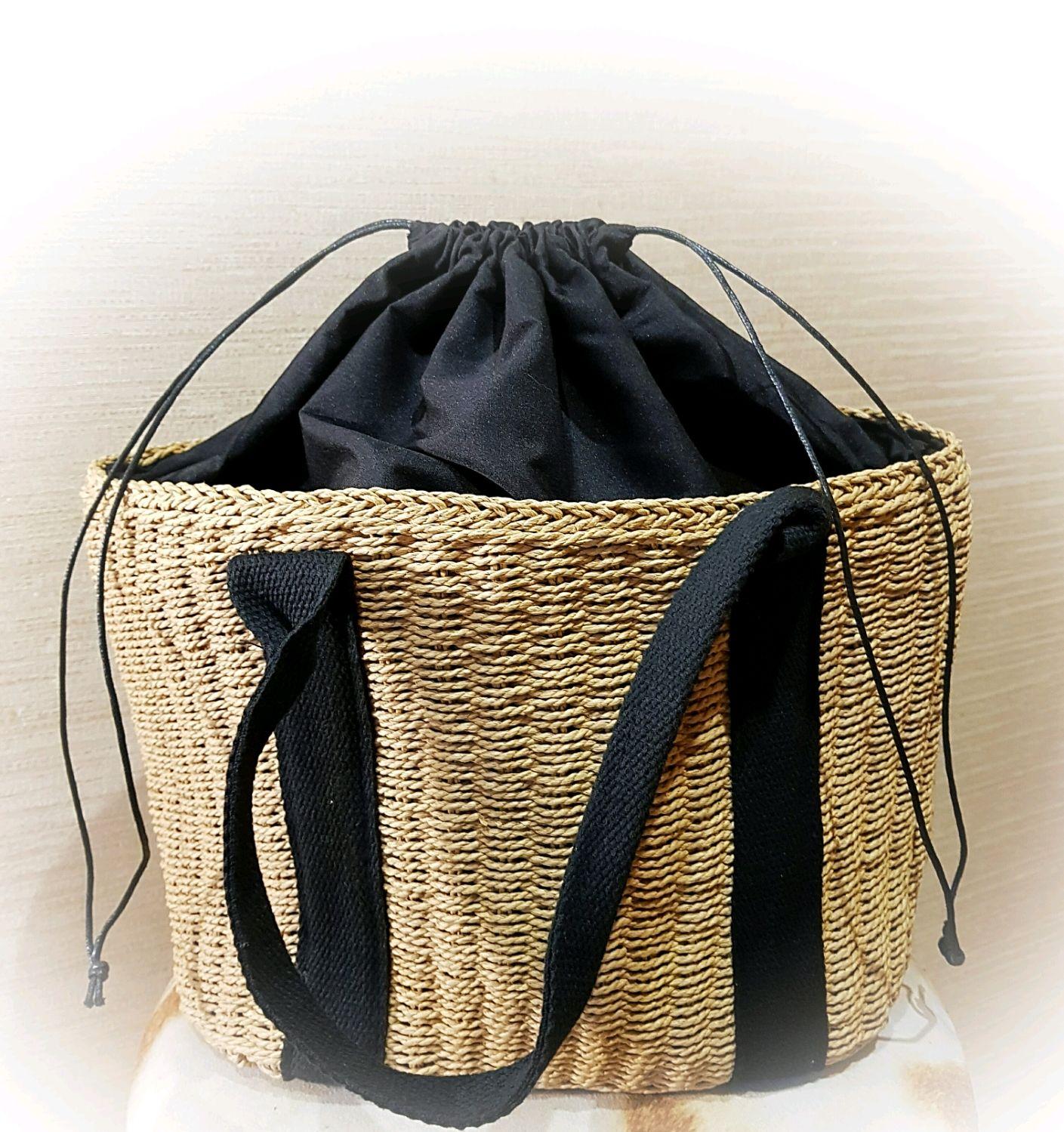 f89c8765ce70 Женские сумки ручной работы. Ярмарка Мастеров - ручная работа. Купить  Сумочка соломенная с хлопковой ...
