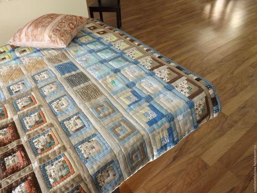 Текстиль, ковры ручной работы. Ярмарка Мастеров - ручная работа. Купить Покрывало нежкное в стиле пэчворк. Handmade. Комбинированный