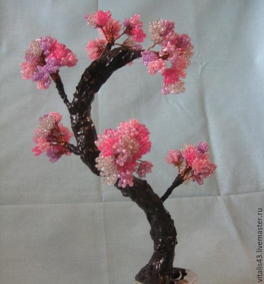 Деревья ручной работы. Ярмарка Мастеров - ручная работа. Купить Розовый вопросик (сакура). Handmade. Розовый, сакура, Дерево из бисера