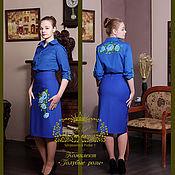 """Одежда ручной работы. Ярмарка Мастеров - ручная работа """"Голубые розы"""". Handmade."""