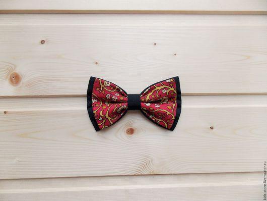 Детские аксессуары ручной работы. Ярмарка Мастеров - ручная работа. Купить Детская галстук бабочка / черная бабочка галстук с орнаментом. Handmade.