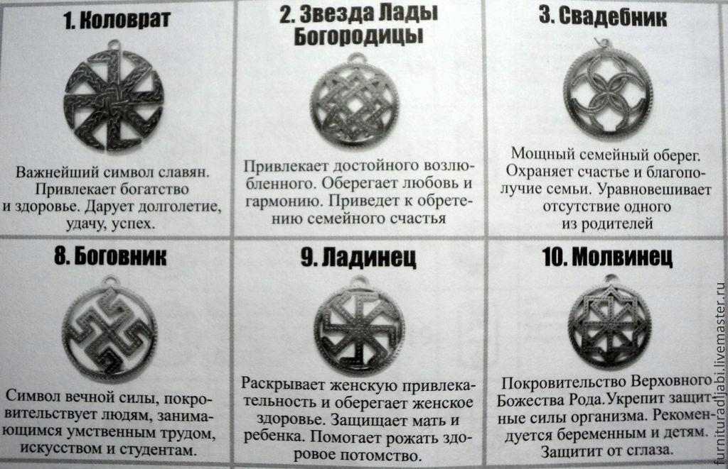 славянские амулеты серебро
