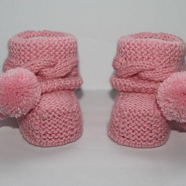 Товары для малышей ручной работы. Ярмарка Мастеров - ручная работа Пинетки сапожки носочки. Handmade.