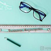Канцелярские товары handmade. Livemaster - original item A wooden ruler with the name what a wonderful world. Handmade.