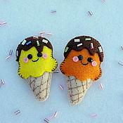 Работы для детей, ручной работы. Ярмарка Мастеров - ручная работа Резинки для волос Фруктовое Мороженое. Handmade.