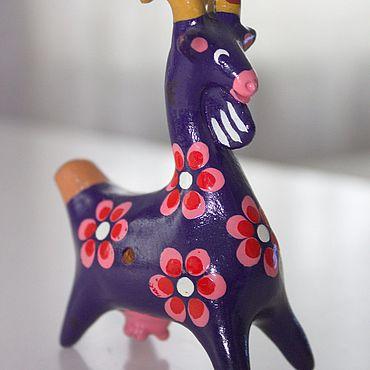 Сувениры и подарки ручной работы. Ярмарка Мастеров - ручная работа Свистулька `Коза`. Handmade.