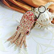 Сумки и аксессуары handmade. Livemaster - original item Coin holders: keychain-coin holder Squid. Handmade.