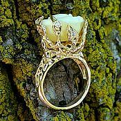 """Кольца ручной работы. Ярмарка Мастеров - ручная работа Золотое кольцо """"Роза"""". Handmade."""