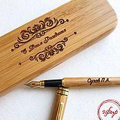 Карандаши ручной работы. Ярмарка Мастеров - ручная работа Именная деревянная ручка с гравировкой в футляре. Handmade.