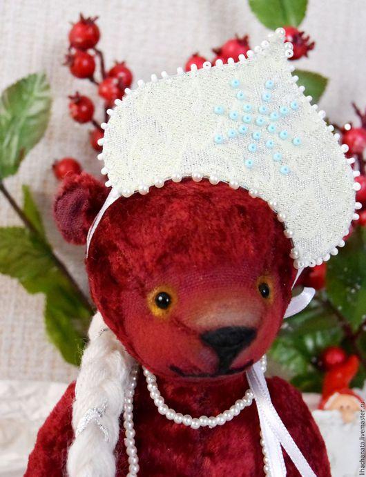 """Мишки Тедди ручной работы. Ярмарка Мастеров - ручная работа. Купить """"Хочу быть Снегурочкой!""""Мишка Тедди.. Handmade. Подарок 2016, малыш"""