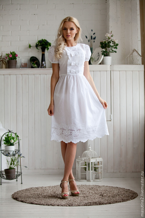 """Платья ручной работы. Ярмарка Мастеров - ручная работа. Купить Платье """"Варенька white"""". Handmade. Белый, кружево"""
