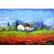 Картины и панно handmade. Livemaster - original item Oil painting by Maquis Provence