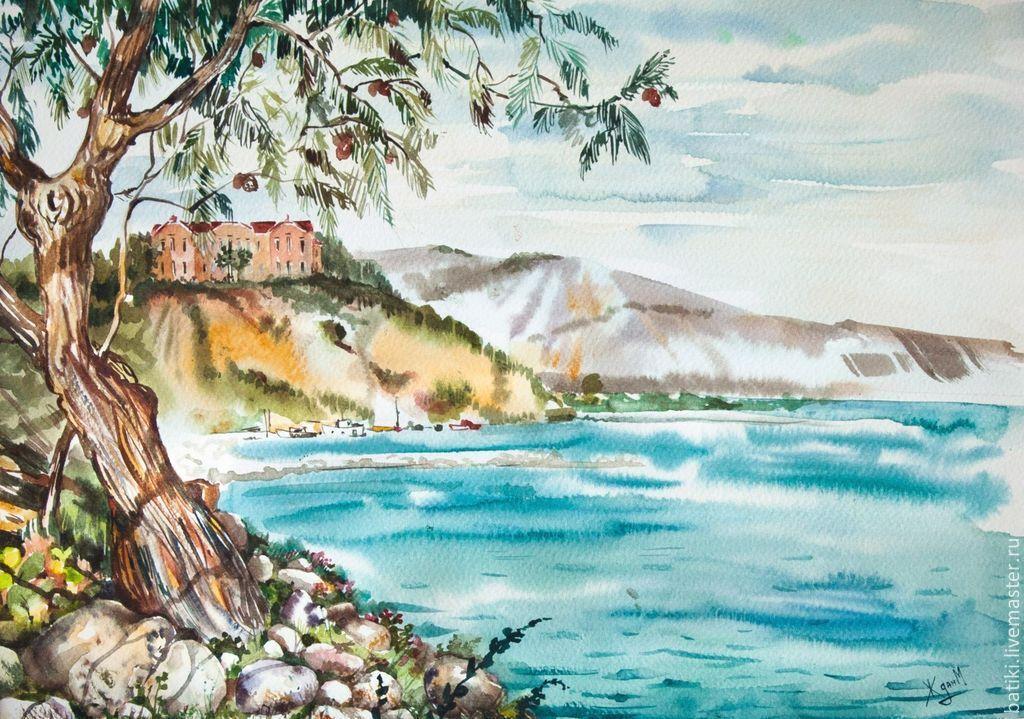 Мастер класс по акварели пейзаж с соснами