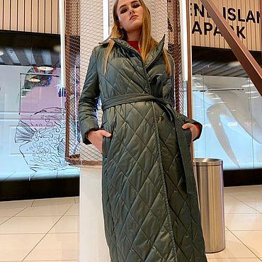 Одежда ручной работы. Ярмарка Мастеров - ручная работа Пальто утеплённое стеганое. Handmade.