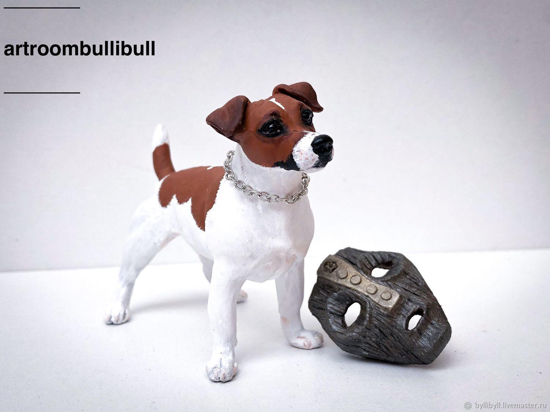 Animal Toys handmade. Livemaster - handmade. Buy Jack Russell Milo.Milo, the statue of the dog