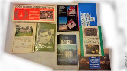 Винтажные книги, журналы. Ярмарка Мастеров - ручная работа. Купить Наборы открыток есть редкие 8 наборов. Handmade. Комбинированный