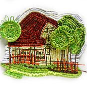 """Картины и панно ручной работы. Ярмарка Мастеров - ручная работа Панно """" Дом"""". Handmade."""