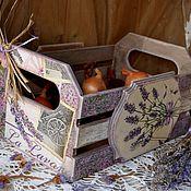 """Для дома и интерьера ручной работы. Ярмарка Мастеров - ручная работа """"Лаванда"""" ящик для всего. Handmade."""