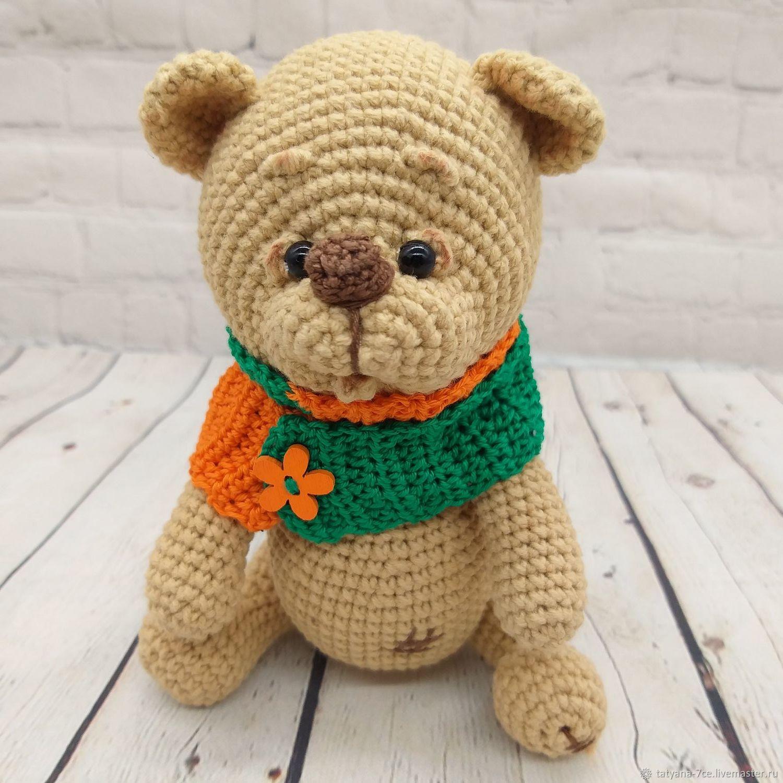 Медведь.Мишка крючком.Медведь амигуруми, Мягкие игрушки, Волгоград,  Фото №1
