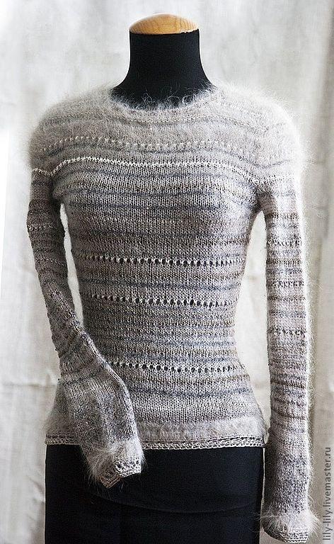 """Кофты и свитера ручной работы. Ярмарка Мастеров - ручная работа. Купить Джемпер """"Французский шарм"""". Handmade. Бежевый, элегантный джемпер"""