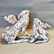 Сувениры и подарки handmade. Livemaster - original item Easter Souvenirs: Hares Angels-couple. Handmade.