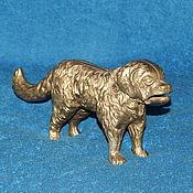 Старинный орехокол собака бронза медь