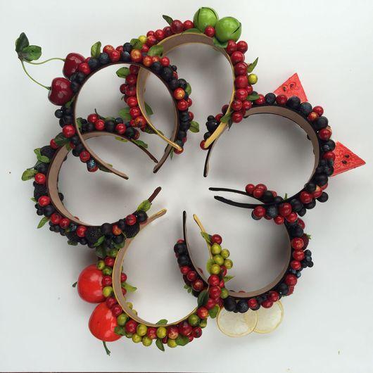 Диадемы, обручи ручной работы. Ярмарка Мастеров - ручная работа. Купить Ободок с лесными ягодами (и не только). Handmade. ягода