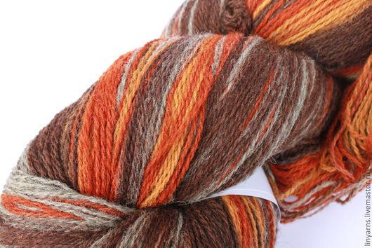 Вязание ручной работы. Ярмарка Мастеров - ручная работа. Купить КАУНИ Artistic Grey Orange 8/2. Handmade. Кауни, вязание