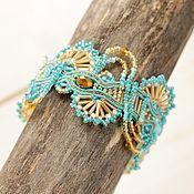 Украшения handmade. Livemaster - original item Boho ocean bracelet, free shipping, beading. Handmade.