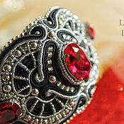 Украшения handmade. Livemaster - original item Bracelet Art Deco Garnet. Beaded bracelet. Bracelets.. Handmade.