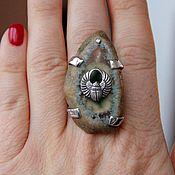 Украшения handmade. Livemaster - original item Mascot ring scarab. agate cut. Handmade.