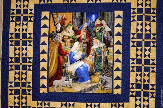 Текстиль, ковры ручной работы. Ярмарка Мастеров - ручная работа. Купить РОЖДЕСТВО лоскутное покрывало пэчворк. Handmade. Лоскутное одеяло