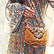 """Женские сумки ручной работы. Бохо сумочка """"Терракота"""" ( текстильная сумка, рыжий, коричневый ). Поэтника (Полина). Ярмарка Мастеров."""