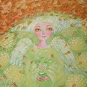 """Картины и панно ручной работы. Ярмарка Мастеров - ручная работа картина"""" Вот и золотая осень"""". Handmade."""