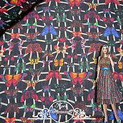 "Материалы для творчества handmade. Livemaster - original item Креп Blumarine ""Бархатницы"" итальянские ткани. Handmade."