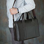 Сумки и аксессуары handmade. Livemaster - original item Men`s business bag with a compartment for a laptop and A4