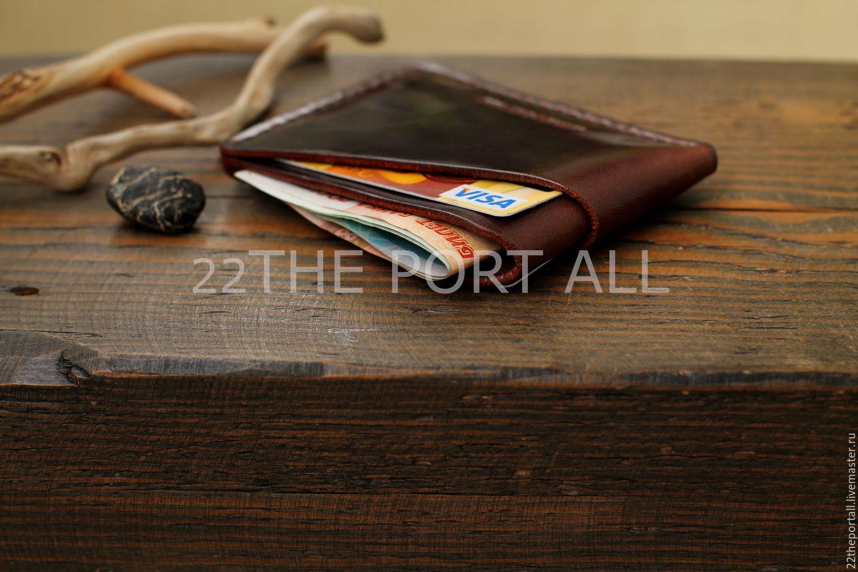Купить Кардхолдер кожаный, · Кошельки и визитницы ручной работы. Кардхолдер  кожаный, портмоне кожаное. 22THEPORTALL. Интернет- ... 916c6862d3d