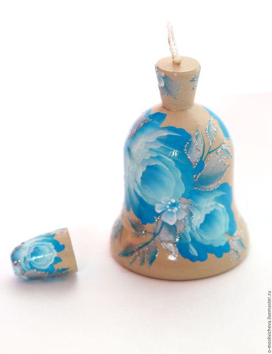 """Колокольчики ручной работы. Ярмарка Мастеров - ручная работа. Купить Колокольчик и наперсток """"Голубая роза"""". Handmade. Бирюзовый, наперсток"""