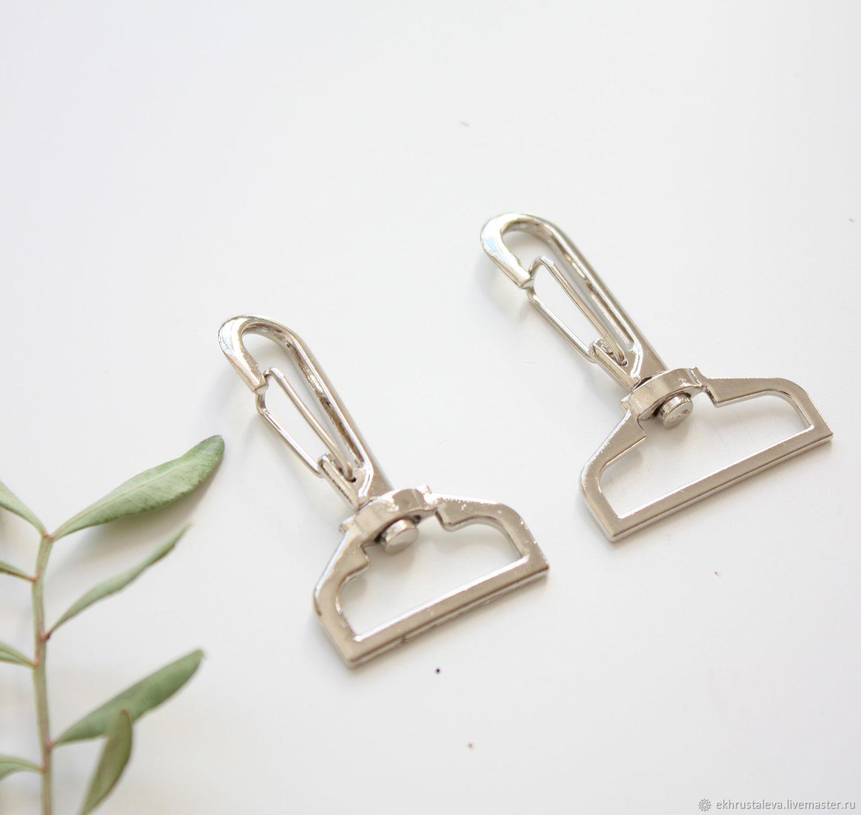 Карабин прямоугольный, серебро – купить на Ярмарке Мастеров – IDUXJRU | Фурнитура для сумок, Москва