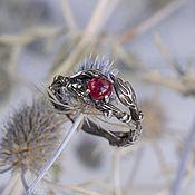 Украшения handmade. Livemaster - original item Silver ring with natural ruby
