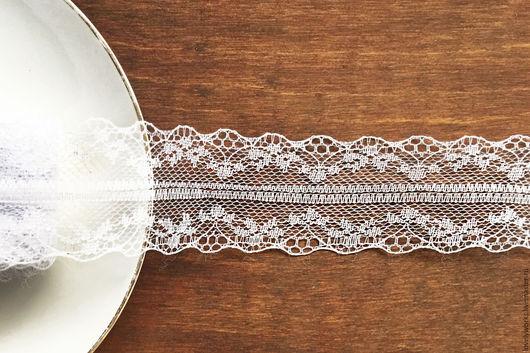Шитье ручной работы. Ярмарка Мастеров - ручная работа. Купить Кружево, сетка 3,5 см, белоснежный. Handmade. Белый